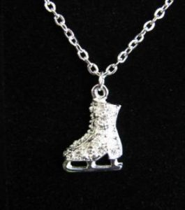 036 Jerrys Crystal Skate boot necklace