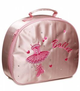 Katz Pink Satin Ballet Vanity Case Dance Bag