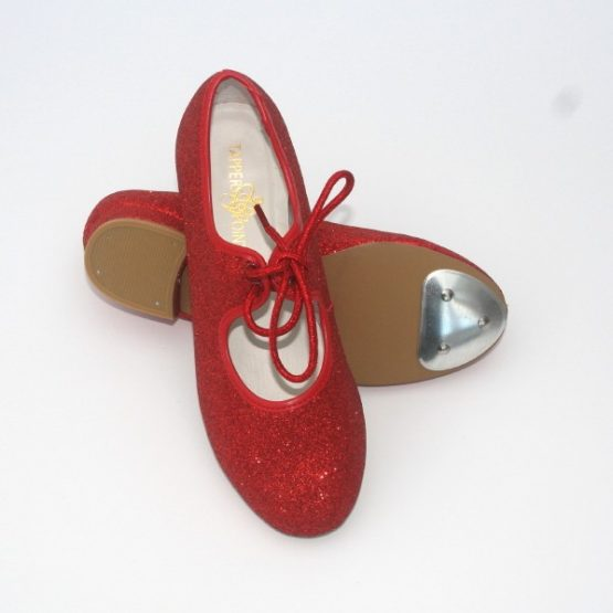 Tappers and Pointers Red Glitter Tap Shoes
