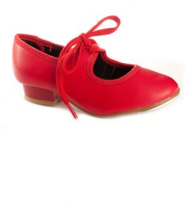Red pu Tap Shoe Tappers and Pointers