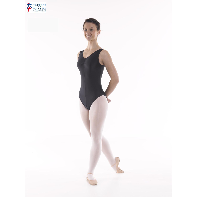 Angela Sleeveless Ruched Front Leotard - Dancewear Universe