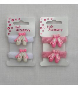 Ballet Shoe Pony Hair Bands