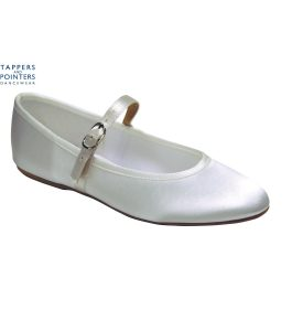 Bar Bridal Shoe Shoe in White or Ivory