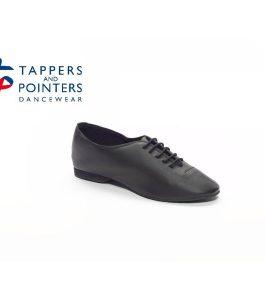 Black Rubber Sole Jazz Shoes