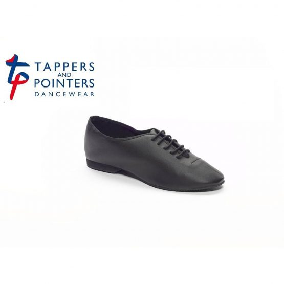 Black Rubber Sole Jazz Shoes