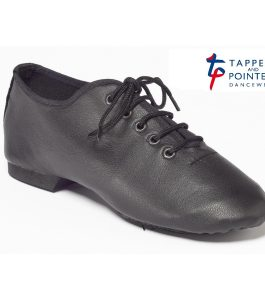Tappers and Pointers Black Split Soled Jazz Shoe