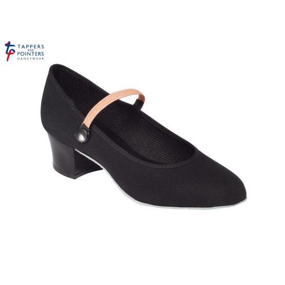 Canvas Character Shoe Cuban Heel