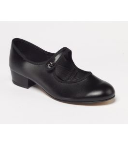 Character Shoe Low Heel Button Bar