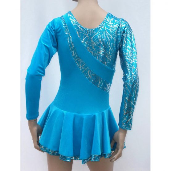 Jenetex Malaga Skating Dress Turquoise back