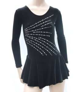 Jenetex Manhattan Skating Dress Black front
