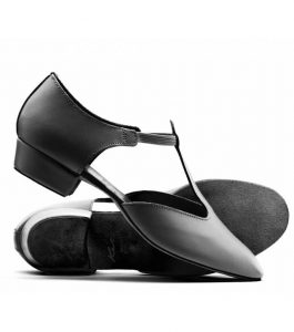 Katz Ladies Black Leather Greek Dance Sandal