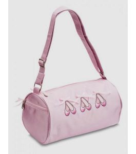 Katz Pink Satin Barrel Bag
