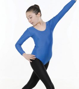 Long sleeve Leotard Plain Front