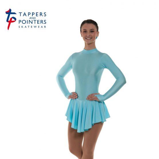 Lycra Skating Dress in Aqua