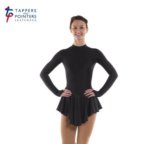 Lycra Skating Dress in Black