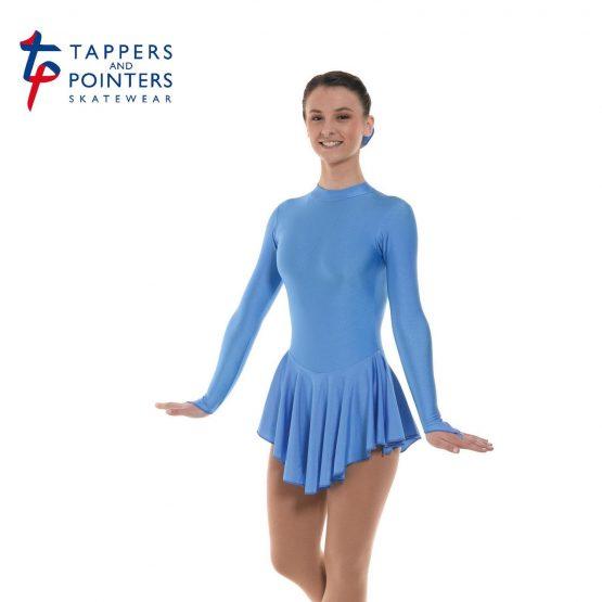Lycra Skating Dress in Cornflower Blue