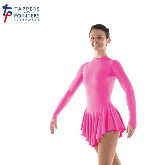 Lycra Skating Dress in Flo Pink