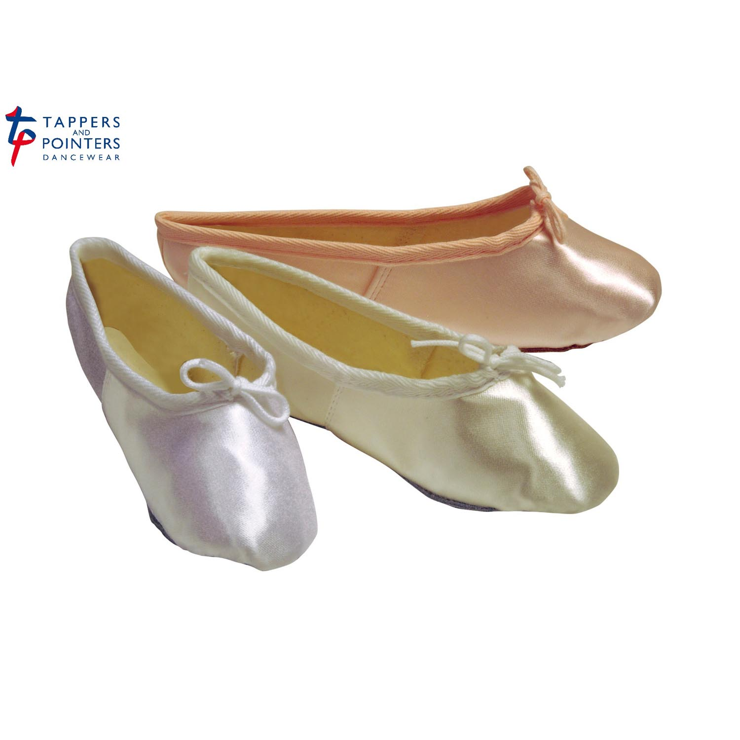 e178aa489bea Tappers And Pointers Satin Ballet Bridesmaids Shoes - Dancewear Universe