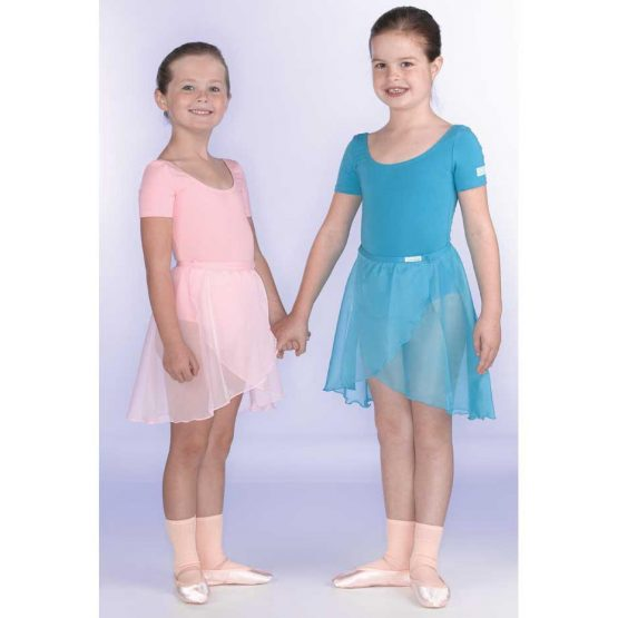RAD Chloe Ballet Leotard with Primary Skirt in Pink and Marine Blue