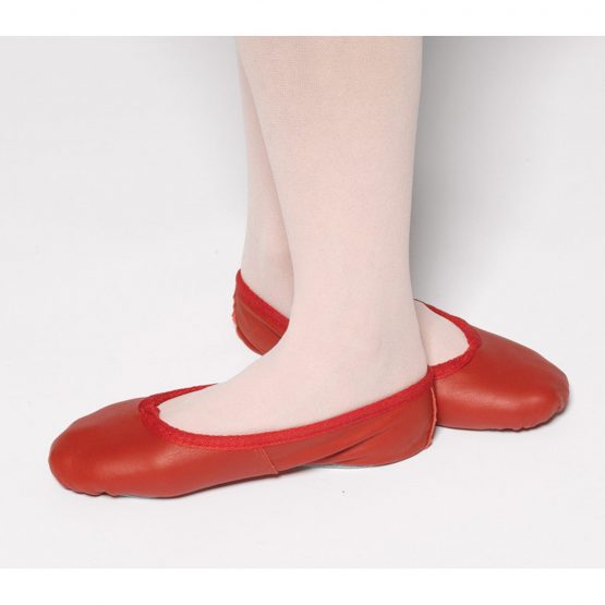 Tappers and Pointers red leather ballet shoes