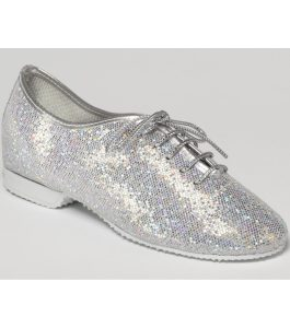 Silver Hologram Glitter Jazz Shoes
