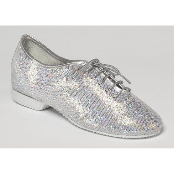 Silver Hologram Glitter Jazz Shoes