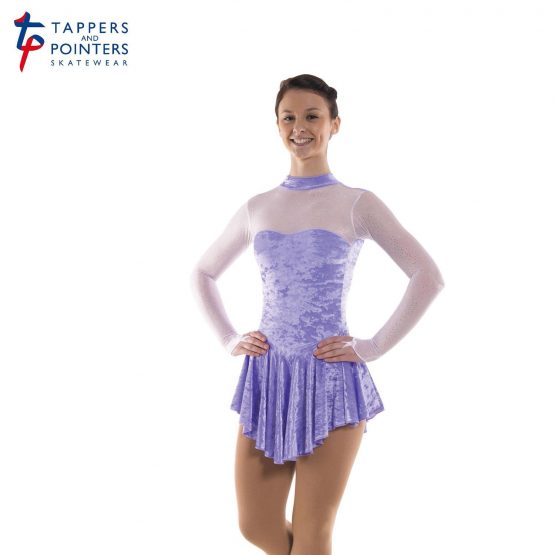 Tappers and Pointers Glittermist Skating Dress 3 in Lilac Velvet Lycra