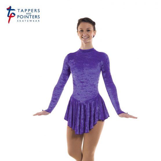 Skating Dress in Purple Velvet Lycra