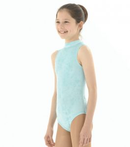 Sleeveless Velvet Leotard with Keyhole back