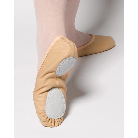 split sole leather ballet shoes
