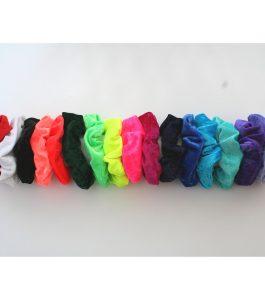 Velvet Lycra scrunchies