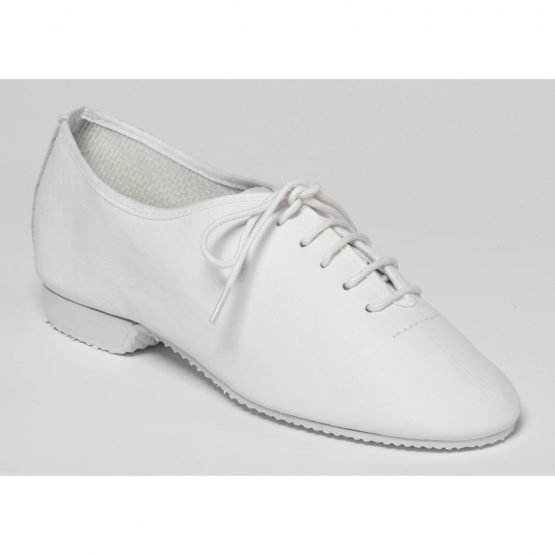 White Rubber Soled Jazz Shoes