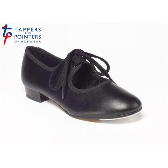 Black PU Tap Shoe Low Heel