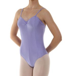 Camisole Panelled Leotard Ruched Front Lilac