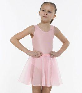 Georgette Full Circular Skirt Pale Pink
