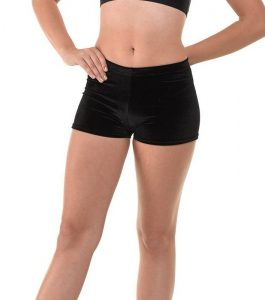 HIPSTER MICRO SHORTS BLACK SMOOTH VELVET
