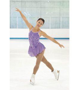 Jerrys 107 Purple Iced Velvet Skating Dress front