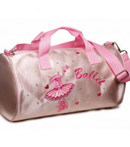Katz Pink Satin Ballerina Barrel Dance Bag