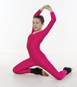 Long Sleeve Catsuit Plain Front (Stirrup)