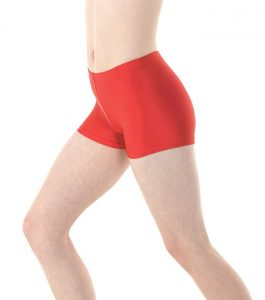 NYLON LYCRA HIPSTER MICRO SHORTS RED