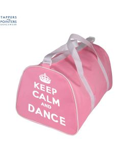 Pink Dance Holdall Keep Calm and Dance Motif