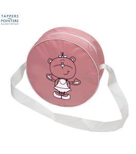 Round Dance Bag Pink Cartoon Ballerina