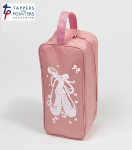 Shoe Bag Pink with Ballet Shoe Motif