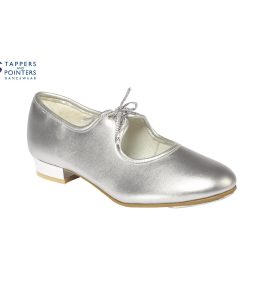 Silver Tap Shoes Low Heel