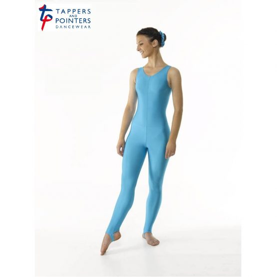 Sleeveless Catsuit Plain Front (Stirrup)