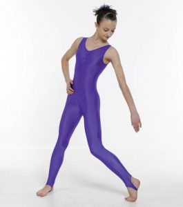 Sleeveless Catsuit Ruched Front (Stirrup)