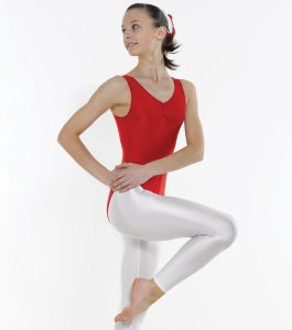 Sleeveless Leotard Ruched Front