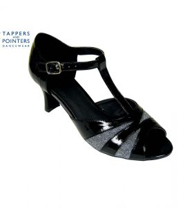acf9c9697a8b Tappers and Pointers Katie Ballroom Shoe 2.5 inch Flared Heel