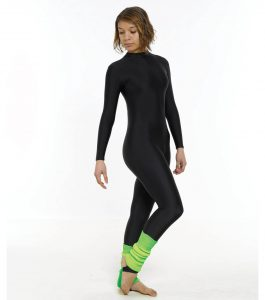 Turtle Neck Long Sleeve Catsuit (Stirrup)