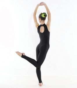 Turtle Neck Sleeveless Catsuit (Stirrup)